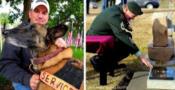 Military Service Held for Veteran Dog Killed by Bicyclist