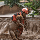 Firefighter Rescues Dog Trapped in Mud