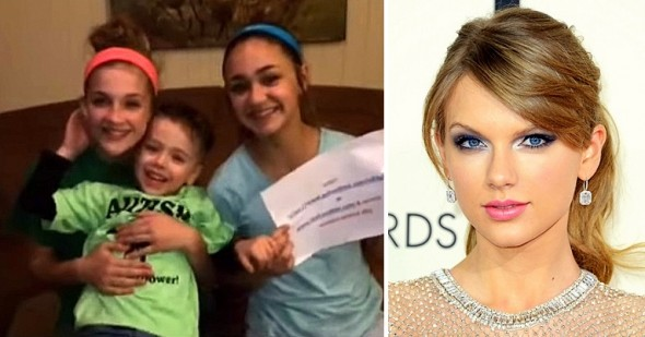 2.10.16 - Taylor Swift Donates $10,000 for Autistic Boy's Service Dog0