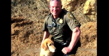Sheriff's Deputy Leaps into Frozen Pond to Save Unconscious Dog