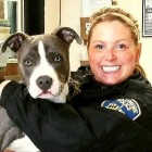 Officer Adopts the Dog She Found Tied Up in a Vacant House