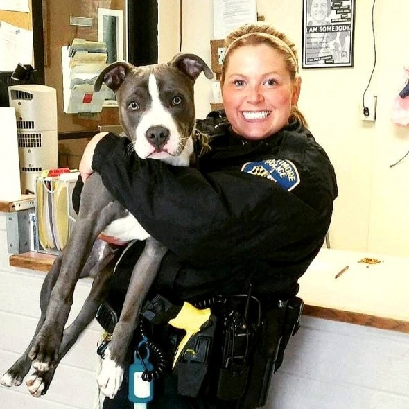 3.28.16 - Officer Adopts Abandoned Dog1