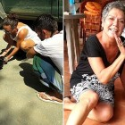 Dehydrated Dog Collapses & Cries as She Is Rescued