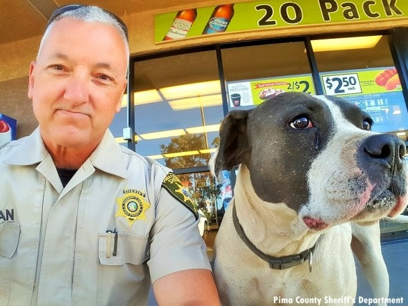 4.4.16 - Deputy Selfies with Lost Dog2