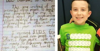 Boy Donates Over $1,300 to Rescue Group for His 9th Birthday