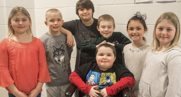 Mason's classmates raised more than $13,000 to help him get a service dog. Photo: The Daily News ----------------------------------