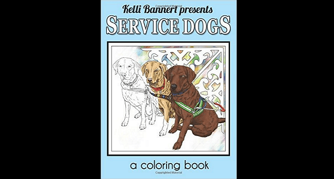 Coloring Enthusiastics And Service Dogs Lovers Rejoice Here Is The Perfect Book