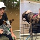 Father and Son Rescue Team Rescue 40 Dogs From Texas Flood