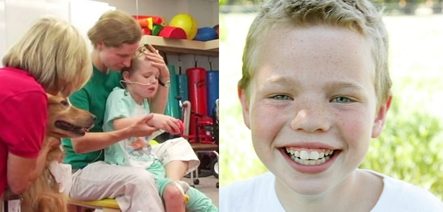 Boy Suffering from Traumatic Brain Injury Makes Full Recovery with the Help of a Dog