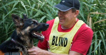 Guide Dog Helps Train Blind Man to Run the Buffalo Marathon