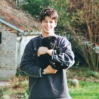 Man Lovingly Recreates Childhood Photo with Beloved Dog