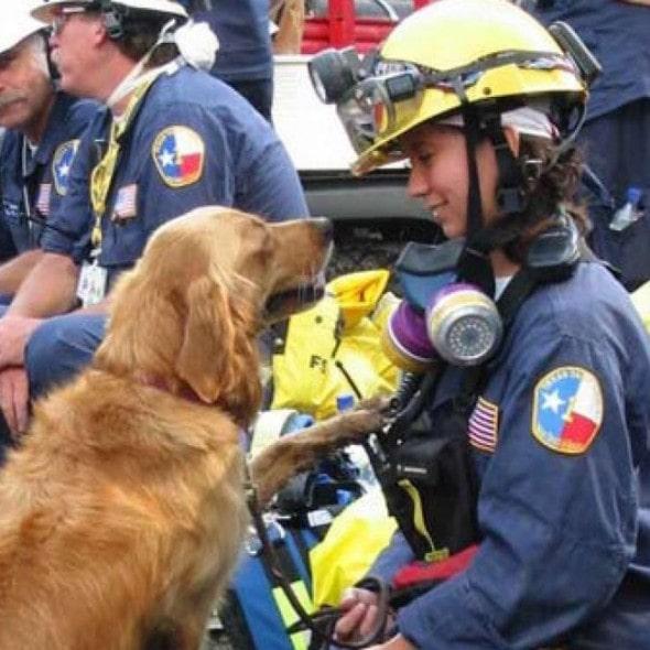 Corliss & Bretagne on the job. Photo: Cy-Fair Volunteer Fire Department ----------------------------------