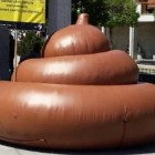 Huge Inflatable Poo Sends Message To Dog Owners in Spain