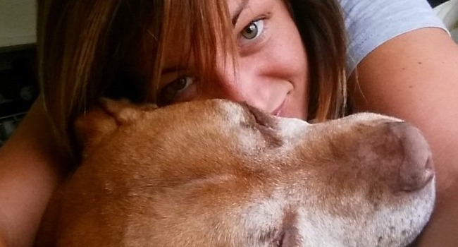 This Pit Bull Saved A Veteran's Life When She Saved His
