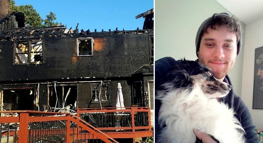 Dog Dashes Upstairs to Save Her Human from a Raging Fire