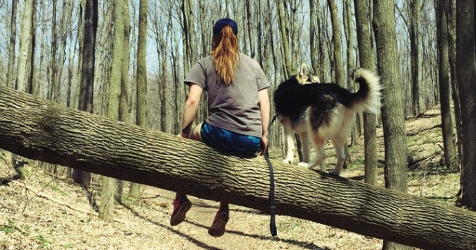 Feral Dog that Didn't Want to Be Rescued Rescues His Human Mom from Anxiety