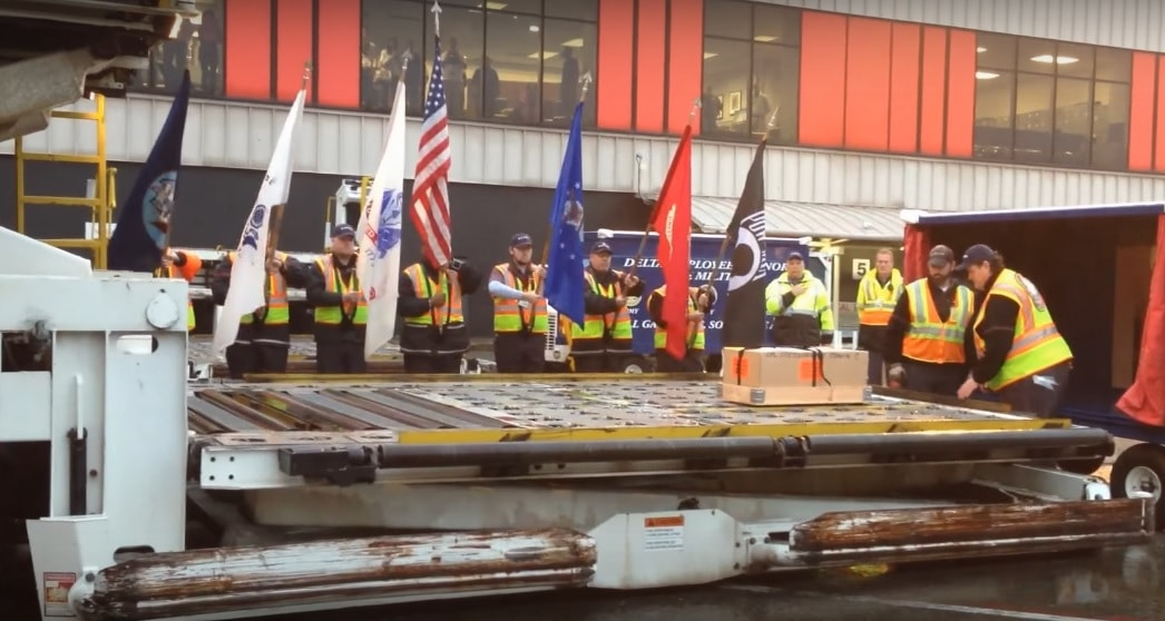 Delta Honor Guard Holds Special Ceremony for Fallen Soldier and His Dog