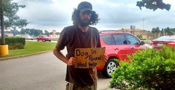 Homeless Man With Great Love for His Dog Touched by an Angel