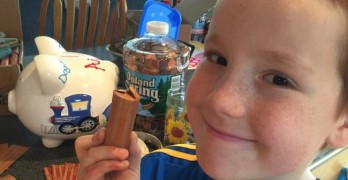 8-Year-Old Boy Saves Pennies For Four Years, Gets Service Dog