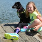 3-Legged Puppy and 9-Year Old Bond Over Prosthetic Limbs