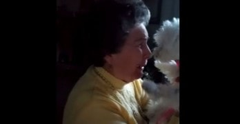 Priceless Moment: Grandma Gets Emotional When Family Surprises Her With Puppy
