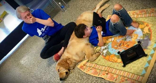 Young Autistic Boy Finds Unconditional Love in Service Dog