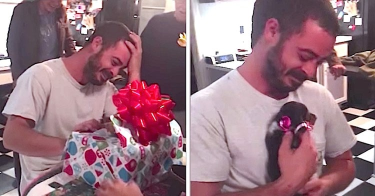 US Marine Vet With PTSD Gets a Much-Needed Therapy Puppy for Christmas