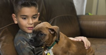 Man Gives Up His Spot in Line At a Shelter So a Little Boy Can Adopt the Dog He Wants