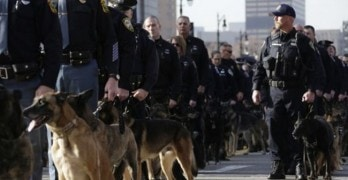 Police Dogs & Handlers Turn Out to Honor A Fallen Officer in Detroit