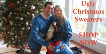 20 Ugly Christmas Sweaters Featuring Dogs To Dazzle With at Holiday Parties!