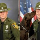 K-9 Refuses to Stop Smooching His Partner During Their Photo Shoot