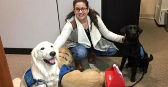 Service Dogs Specially Trained by Inmates Delivered Valentine's Day Treats in Indianapolis