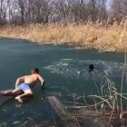 Way To Earn Your Cocoa! Watch Man Rescue Dog From Frozen Lake