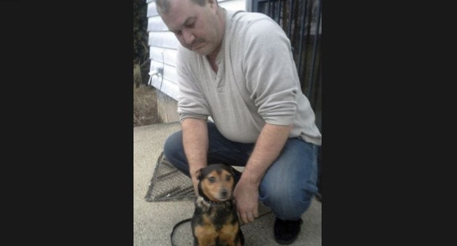 """""""I thought the coyotes got him."""" Man Reunited With Lost Dog After Four Years"""
