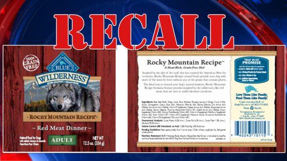 Dog Food Recall Blue Buffalo