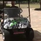 Great Danes Get into an Argument Over Who Gets to Ride in the Golf Cart