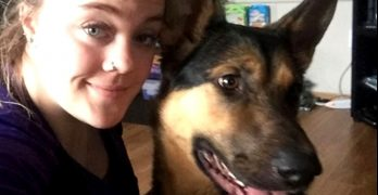 Dog Falls in Love With an SPCA Worker, Escapes, and Follows Her Home