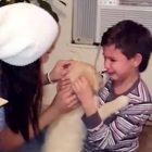Little Boy Is So in Love With His New Puppy That He Can't Stop Crying