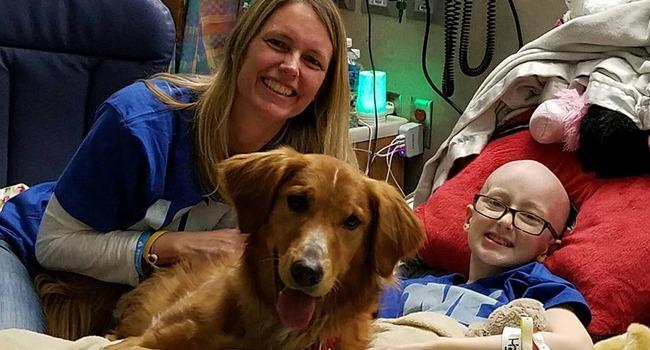 12-Year-Old Battling Brain Cancer Gets Sweet Surprise Visit From Celebrity Dog