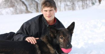 Elderly Man Who Broke His Hip While Skiing Is Rescued by a Young Man and His Dog