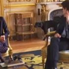 "France's ""First Dog"" Takes A Presidential Pee During Government Meeting"