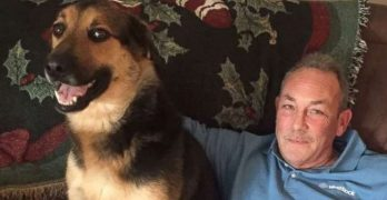 """Man Hilariously Babysits His """"Grand-Dog"""" For The Holidays"""
