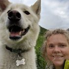 Nanook the hero! Trail dog helps deaf hiker after serious fall in the Alaskan wilderness.