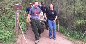 Kato's humans knew he was in distress on the hiking trail; Evergreen first responders were glad to help