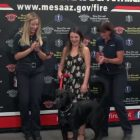 Hero dog honored by Mesa FD for saving his fellow pooch from drowning