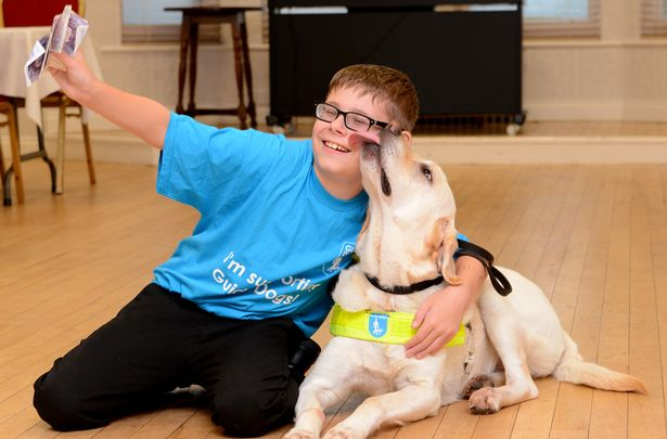 Boy, 12, who is going blind raises thousands for guide dog charity